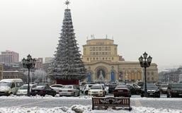 在耶烈万中心广场的看法  库存照片