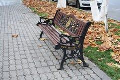 在耶烈万街道上的长凳  库存照片