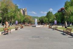 在耶烈万Vernissage附近的公园 免版税库存图片