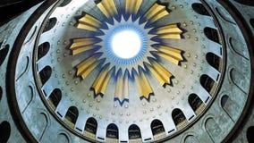 在耶稣空的坟茔的圆顶在耶路撒冷 免版税图库摄影