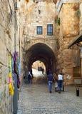 在耶路撒冷上街道  免版税库存图片