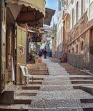 在耶路撒冷上街道  免版税图库摄影