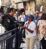 在耶路撒冷上街道  库存图片