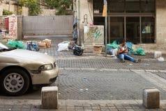 在耶路撒冷上街道  图库摄影