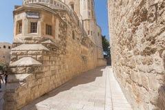 在耶路撒冷的步行 库存照片