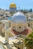 在耶路撒冷耶路撒冷旧城n屋顶的一个看法  免版税图库摄影