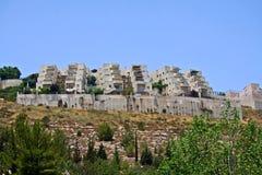 在耶路撒冷郊外的新的区  免版税库存图片