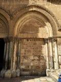 在耶路撒冷金黄寺庙的曲拱 库存照片