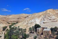 在耶路撒冷附近的旱谷Kelt, 库存图片