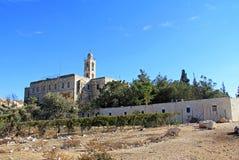 在耶路撒冷,以色列附近的3月伊莱亚斯修道院 免版税库存照片
