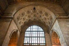 在联合驻地里面的建筑学在多伦多 免版税库存图片