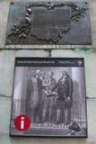 在联邦国家纪念堂全国纪念品的标志在曼哈顿 免版税库存图片
