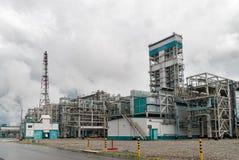 在聚丙烯生产的气体化学制品复合体 免版税库存照片