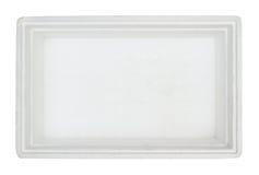 在聚苯乙烯泡沫塑料里面的配件箱 免版税库存图片
