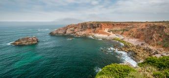 在肋前缘Vicentina,葡萄牙的多云风景 图库摄影