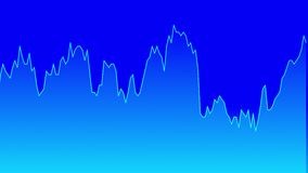 在股市投资贸易蓝色背景图的蓝线图表  股票录像