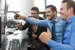 在股票交易的企业成功 库存照片