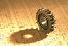 在股票指数的齿轮 免版税库存照片