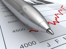 股市数据 免版税库存照片