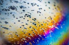 在肥皂泡沫的美好的荧光的抽象 免版税库存照片