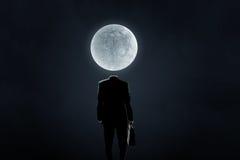 在肩膀的月亮 库存照片