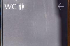 在肮脏的委员会的男性和女性象 免版税库存照片