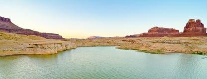 在肮脏的恶魔河的风景,幽谷峡谷, UT 库存照片