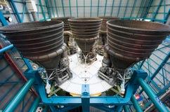 在肯尼迪航天中心的土星v火箭 免版税库存图片
