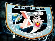 在肯尼迪航天中心的阿波罗象征 库存图片
