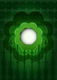 在背景传染媒介的绿色黑暗的开花云彩 免版税库存照片
