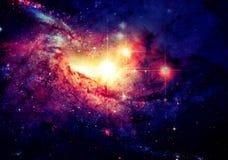 在背景星云的星 美国航空航天局装备的这个图象的元素 免版税库存照片