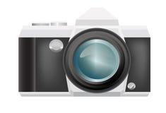 在背景的传染媒介减速火箭的照相机 免版税图库摄影