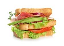 在背景的可口三明治 库存图片