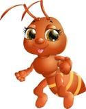 在背景的快乐的蚂蚁 免版税库存图片