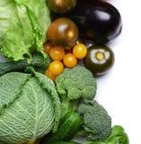 在背景的新鲜蔬菜 库存照片