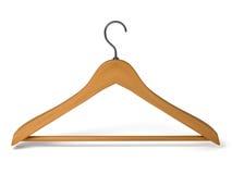 在背景的木挂衣架 免版税库存照片
