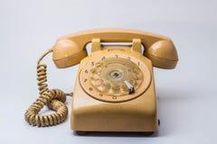 在背景的电话 免版税图库摄影