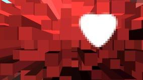 在背景的白色心脏 库存照片