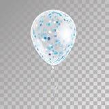 在背景的白色透明气球 图库摄影