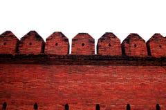 在背景的红砖墙壁 库存图片