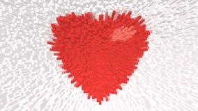 在背景的红色心脏 免版税库存照片