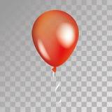 在背景的红色透明气球 库存图片