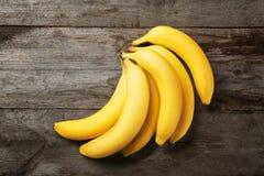 在背景的美味的香蕉 图库摄影