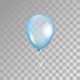 在背景的蓝色透明气球 免版税库存照片