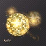 在背景的迪斯科球 夜总会党光元素 迪斯科舞蹈俱乐部的明亮的镜子球设计 库存照片