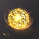在背景的迪斯科球 夜总会党光元素 迪斯科舞蹈俱乐部的明亮的镜子球设计 免版税库存图片