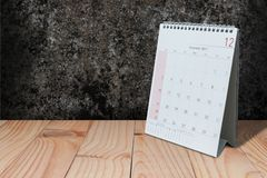 在背景的12月carlender 免版税库存图片