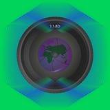 在背景线的透镜与反射行星 库存照片