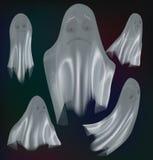 在背景隔绝的套鬼魂 库存图片