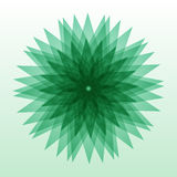 在背景隔绝的Multigonal抽象绿色形状 您设计新例证自然向量的水 免版税库存照片